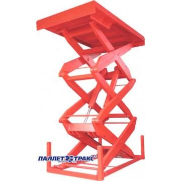 стационарный подъемный стол с тройными ножницами